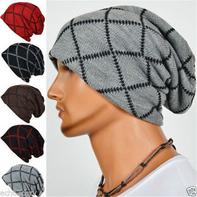 Men Oversized Unisex Knit Beanie Ski Hat Baggy Slouchy Winter Skull Hip Hop Cap