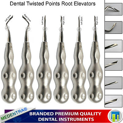 6Pcs Dental Elevators Tooth Root Extraction Surgical Lab Twisted Points Forceps