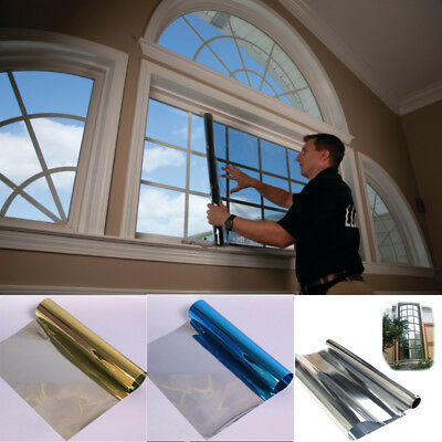 Privacy One Way Mirror Window Tint Film Solar Insulate Glass Reflection S JQE