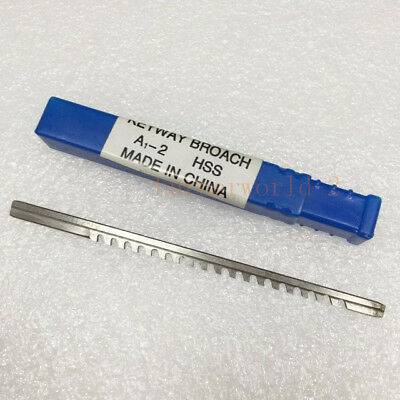 2pcs 2mm A Push-Type Keyway Broach Metric Sized High Speed Steel for CNC Cutting