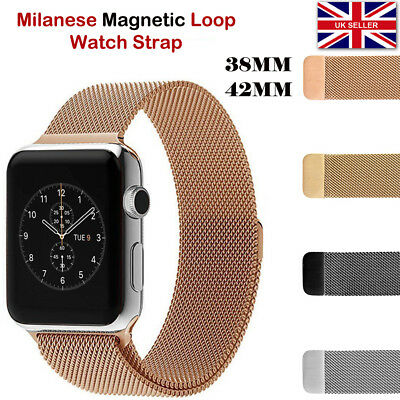 Milanese Magnetic Loop Stainless Steel Watch Strap Band For iWatch Series 3/2/1