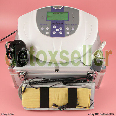 Foot Detox Machine Ion Foot Bath Spa Cell Cleanse Machine +Therapy Pads Fir Belt