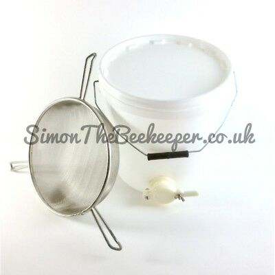 Beekeeping Honey Tank with Valve & Tri-Handled Honey Strainer- ALL SIZES