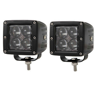 2X 3inch 4D Led Work Light Cube Pods SpotLight Head Lamp ATV SUV Driving Offroad