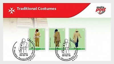 H01 Malta 2018 Traditional Costumes MNH Mint