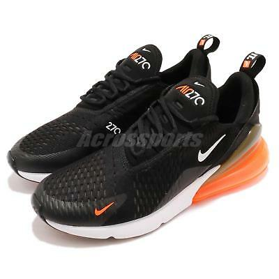 NIKE AIR MAX 270 JUST DO IT JDI Noir Total Orange Homme Running Chaussures