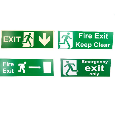 Fire Exit Sign,  - All Sizes & Materials - Emergency, Escape, PLASTIC