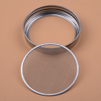 Stainless Steel Strainer Sprouting Lid for Wide Mouth Mason Canning Jar Tool