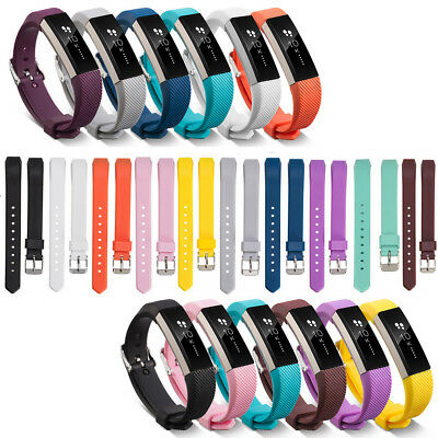S/L Strap Watch Bracelet Metal Buckle Silicone For FitBit Alta & Alta HR& ACE