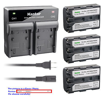 Kastar Battery AC Rapid Charger for Sony NP-FM50 & Sony Cyber-shot DSC-F707