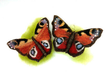 Needle Felting Kit by The Makerss - Peacock Butterfly - makes 2 butterflies
