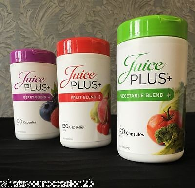 New Juice Plus Capsules Fruit, Berry or Vegetable Blend 60 1 Month Supply Trial