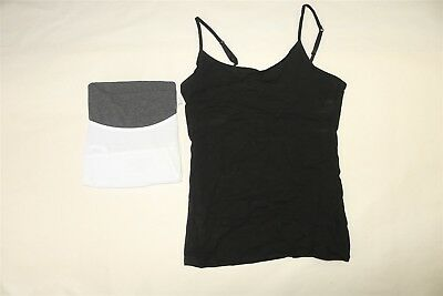LOT OF 3 FELINA Women's Layering Cotton Modal Stretch Cami Camisole Tops - SMALL