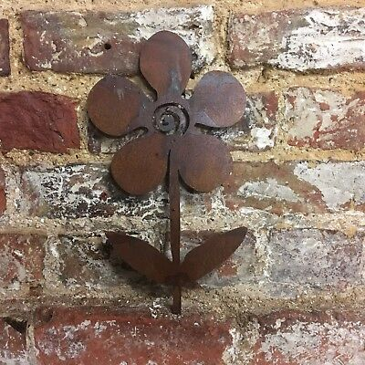 Rusty Metal PLANT FLOWER sign Home garden Ornament FEATURE PLAQUE DECORATION