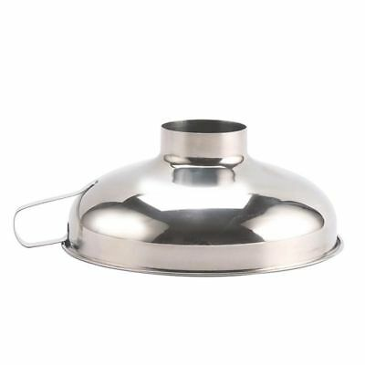 Stainless Steel Wide Mouth Funnel Canning Hopper Filter Food Pickles Jam Fu M2G8
