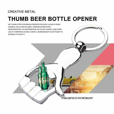 Creative Metal Palm Opener Thumb Beer Opener Key Chain Bar Tool Home Decora Q7X1
