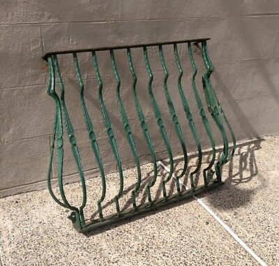 Antique Wrought Iron Architectural Window Guard