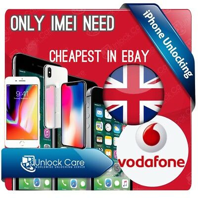 Only Imei Vodafone Uk Iphone Unlock Service 5S 5Se 5C 6 6+ 6S 6S+ 8 8+ X