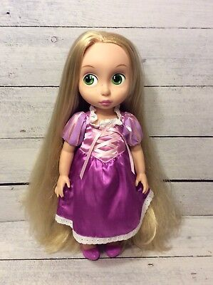 """Disney Animators' Collection Princess Rapunzel Tangled 16"""" Toddler Doll + Outfit"""