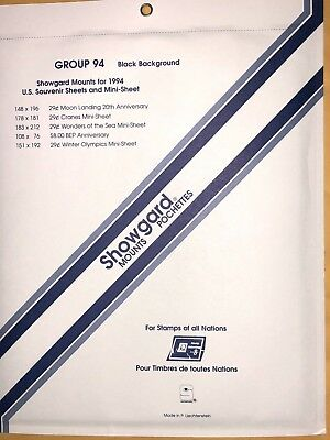 Showgard Stamp Mounts Group 94  (94-4)  ***A Veteran Supportive Business***
