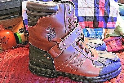 686c53a47f5 US POLO ASSN Mens Boots Crusade 2 Hi Boots Color: Brown/Black Size 12 US
