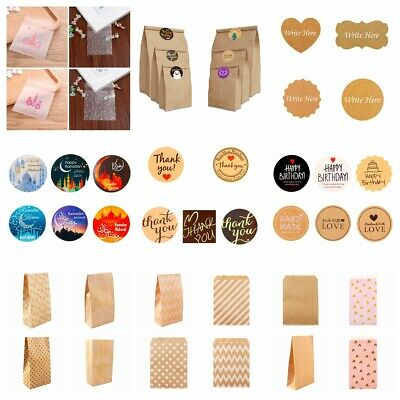 60/100PC Handmade With Love Label Sealing Stickers Candy Bag Wedding Party Gift