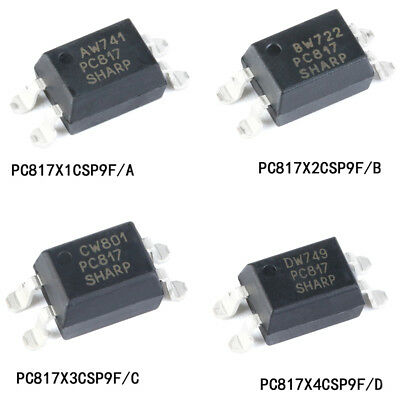 PC817 SMD/SMT Optocoupler A/B/C/D File SOP-4 for Arduino Isolator Optoisolator