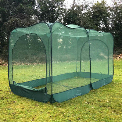 2.50m x 1.25m x 1.35m H Pop-Up Giant Garden Fruit Cage Veg Cage GPN125-51