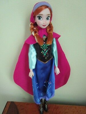 """Disney Store ANNA Classic Doll 11"""" Frozen Complete Outfit Princess"""