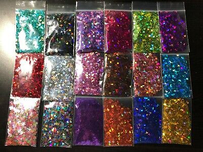 Solvent Resistant BUTTERFLY shape Glitter U Choose Color Nail Art Face Crafts