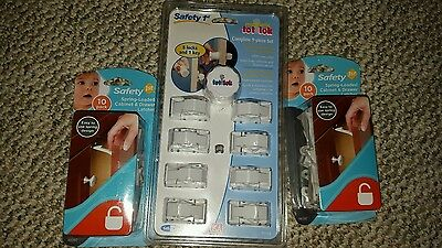 Safety 1st Magnetic Locking System, 1 Key and 8 Locks Baby Infant Toddler aa3