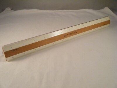 ALVIN flat architectural No 285X wood ruler Full Size 16 and 32 West Germany