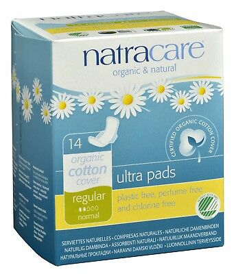 (6 Pack) NATRACARE PADS ULTRA WITH WING REGULAR 14 COUNT