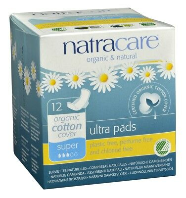 Natracare Pads Ultra With Wing Super 12 Count