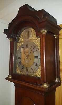 Antique Oak 8 Day Longcase Grandfather Clock Miller Southampton