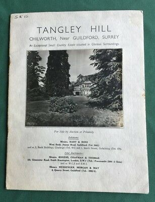 Surrey - CHILWORTH, Tangley Hill Country House,  Illustrated Auction Catalogue