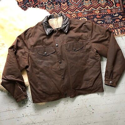 Barbour Drover Waxed Cotton Jacket Mens XL