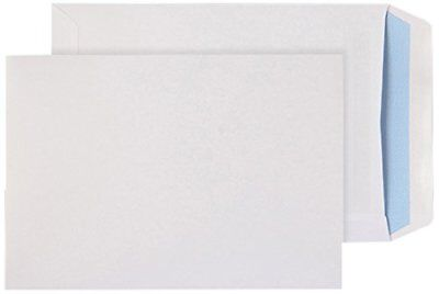 White Plain C5 A5 Self Seal Pocket Office Mailing Envelope 90 Gsm - Box Of 500