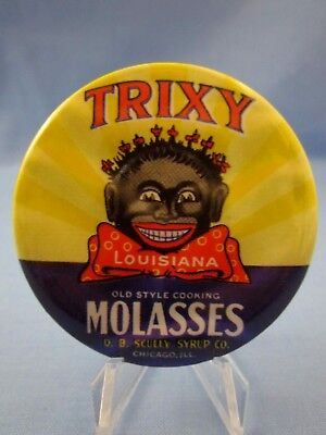 "Vintage Black Americana ""trixy Louisiana Molasses"" - Advertising Pocket Mirror"
