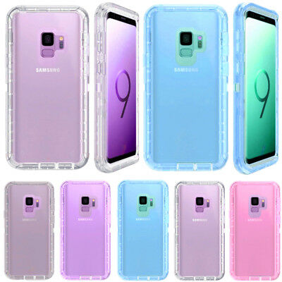 For Samsung Galaxy S9+ Plus Transparent Clear Case (Clip Fits Otterbox Defender)