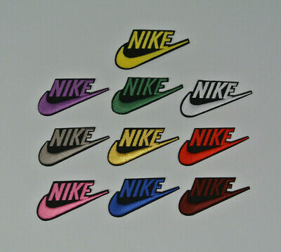 2.4in*1.2in/6cm*3cm Different Color Embroidered Iron On Patch Sew On Badge Logo
