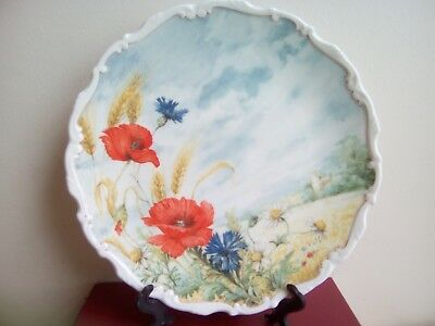 Royal Albert decorative plate Poppy and Cornflower from Hedgerow collection