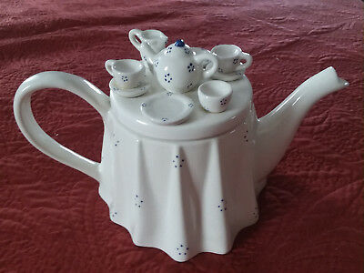 SOUTH WEST CERAMICS 1990 Paul Cardew Tea Table Teapot, Made in England Vintage