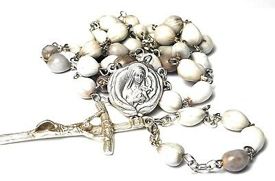 Therese Child Jesus Lisieux earth from coffin Job's Tears relic rosary HIV AIDS