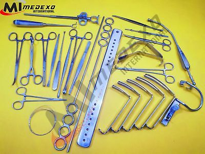 Tonsillectomy Set of 27 Pieces ENT Surgical Instruments Excellent Quality Medexo