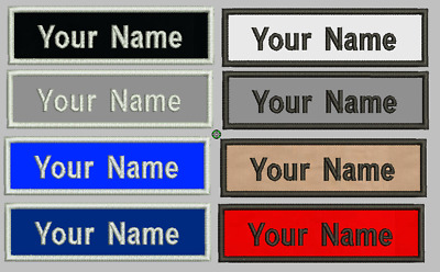 """Custom Embroidered Name Text Patch Military Rectangular 3"""" to 6"""" x 1"""" Tag Label"""