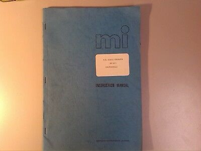 Marconi Tf2013 Signal Generator Instruction Service Manual Excellent Rare