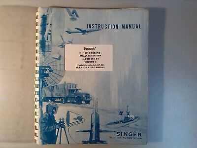 Singer Ssb Analyzer Ssb-50 Mf-50 Rf-8 Rec-2 Ttg-3 Manual Rare Vintage Excellent