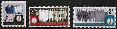 Human rights year stamps, Malta,1968, SG ref: 399-401, 3 stamp set, MNH
