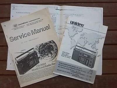Uniden Cr2021 Receiver Owners & Service Manuals Circuits Rare Excellent Cond